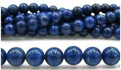 4mm-12mm Blue Egyptian Lazuli Lapis Gemstone Loose Bead 15''
