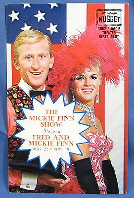 Vtg Fred and Mickie Finn Show Nugget Casino Picture Advertising Postcard 1970s