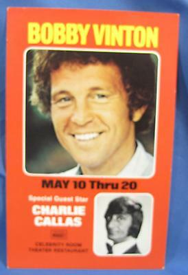 Vintage Bobby Vinton Stage Show Nugget Casino Reno NV Advertising Postcard 1970s