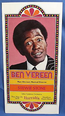 Vintage Ben Vereen Stage Show Harrahs Casino Reno NV Advertising Postcard 1970s