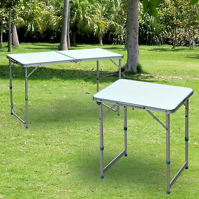 Outdoor Portable Folding Picnic Table Patio Roll up Camping Square Aluminum