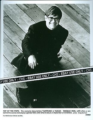 ELTON JOHN NICE ORIGINAL B&W 8x10 PRESS PHOTO