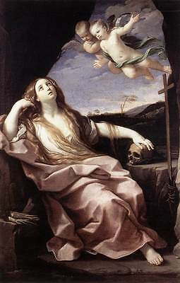 Oil painting Salome Guido Reni - St. Mary Magdalene with angels only canvas