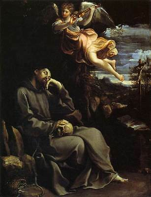 Oil painting Salome Guido Reni - St Francis Consoled by Angelic Music in view