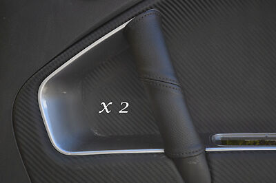 Black Stitching Fits Alfa Romeo Mito 2X Door Handle Leather Covers Only