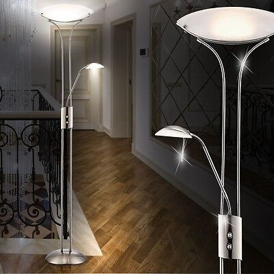 design led stand leuchte wohn zimmer stehleuchte boden lampe flur lese licht eur 99 99. Black Bedroom Furniture Sets. Home Design Ideas