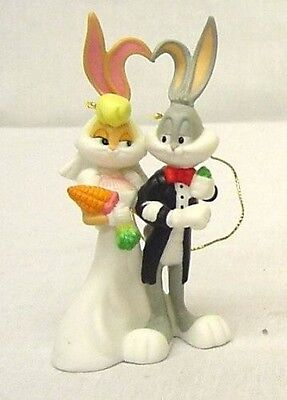 Bugs Bunny and Lola Bride and Groom Goebel's Porcelain Ornament