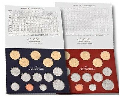 2012 Philadelphia And Denver Mint Uncirculated 28 Coins United States Mint Set