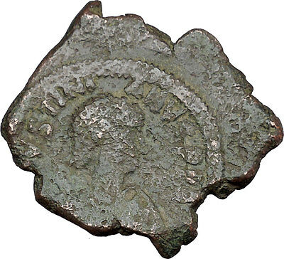 Justinian I 527AD Very big  Ancient Authentic  Medieval Byzantine Coin  i37987