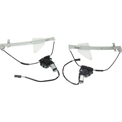 New Window Regulators Glass Set of 2 Left & Right Side Rear with motor Pair