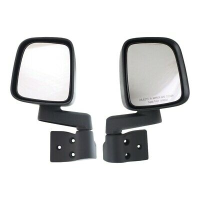 Manual Side View Mirrors Folding Pair Set NEW for 03-06 Jeep Wrangler
