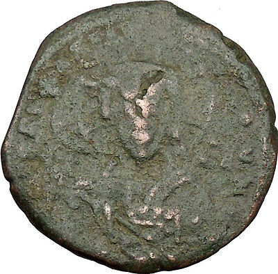 JESUS CHRIST Class A2 Anonymous Ancient 1028AD Byzantine Follis Coin  i38013