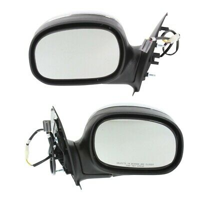 Power Mirror Set Of 2 For 1997-2003 Ford F-150 Chrome Left And Right Manual Fold