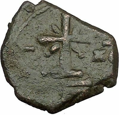 Manuel I Comnenus Ancient  Byzantine Coin Cross with X at center Labarum  i38034