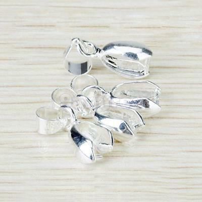 20PC Silver Plated Pendant connector Pinch clasp Bails DIY JEWELRY FINDINGS 16MM