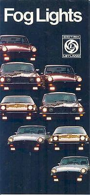 1978 1979 Jaguar MG Triumph Fog Lights Brochure MGB TR7 mx413-T6JISP