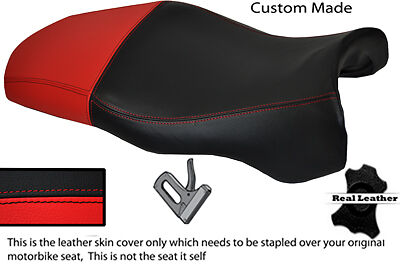 Red & Black Custom Fits Ducati Supersport 750 900 Ss 99+ Leather Seat Cover