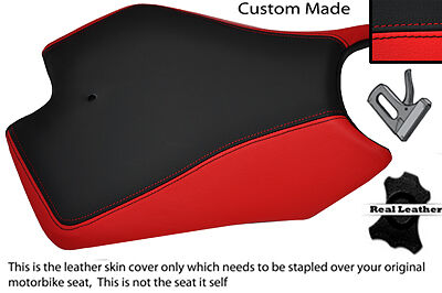 RED AND BLACK CUSTOM FITS APRILIA RS125 RS 125 97-05 FRONT LEATHER SEAT COVER