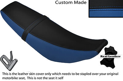 Black And Royal Blue Custom Fits Yamaha Wr 125 R X 09-13 Dual Leather Seat Cover