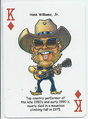 Hank Williams Jr. - Country Music Singer - ODDBALL Playing card
