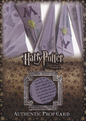 Harry Potter Order Of Phoenix Ministry Magic Flying Memos Prop Card P2 Variant A
