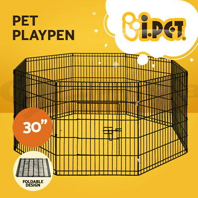 "i.Pet 30"" 8 Panel Pet Dog Playpen Puppy Exercise Cage Enclosure Fence Play Pen"