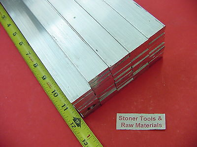 "48 Pieces 1/4"" X 1"" ALUMINUM 6061 FLAT BAR 12"" long .250"" Solid New Mill Stock"