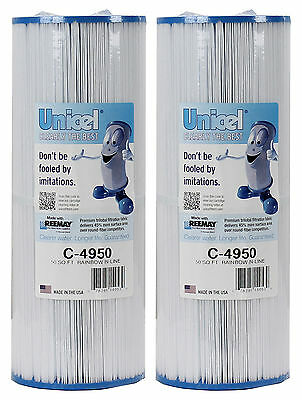 2) New Unicel C4950 Pool/Spa Filter Replace Jacuzzi Cartridges C-4950 50 sq. ft