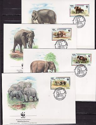 Cambodge 1997 - FDC - Dieren / Animals (Elephants) WWF/WNF