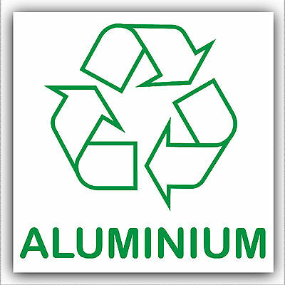Aluminium-Recycle Self Adhesive Vinyl Bin Waste Sticker-with Recycling Logo Sign