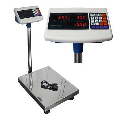 600LB Bench Shipping Weight Digital Counting Scale Warehouse Platform Mailing