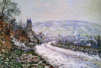 Art Oil painting Claude Monet - Entering the Village of Vetheuil in Winter