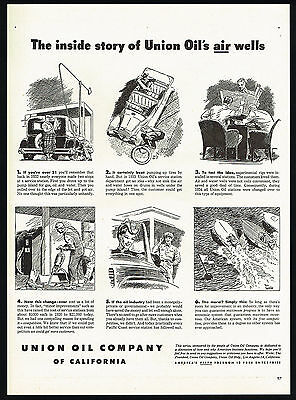 1946 Union Oil Company Gas Station Added Water & Air Hoses Print Ad