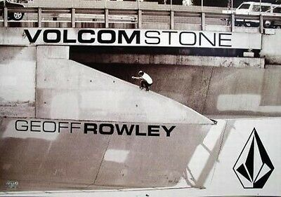 VOLCOM 2004 Geoff Rowley B&W skateboard poster ~MINT condition NEW old stock~!