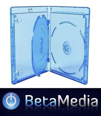 10 x Blu Ray Triple 14mm Quality Cases with logo Blu-ray *** Holds 3 ***