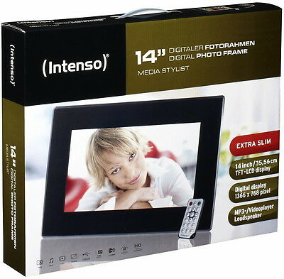 Intenso digitaler Bilderrahmen Video Photo Frame Media Stylist 14 Zoll