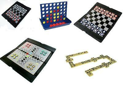 Portable Magnetic Travel Games (Chess, Draughts, Ludo, Dominos) 4-In-a-Row