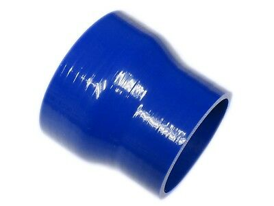 """BLUE Silicone Hose 76mm to 63mm Reducer (Silicon) 3"""" - 2.5"""" Inch"""