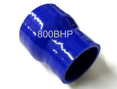 """BLUE Silicone Hose 63mm to 51mm Reducer (Silicon) 2.5"""" - 2"""" Inch (50mm)"""