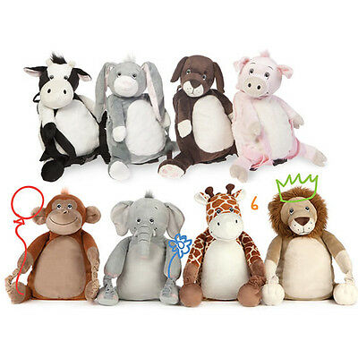 4 In 1 Bobo Buddies Backpack Cosy Fleece Blanket Pillow Cuddly Soft Toy Kids New