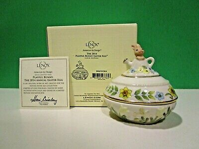 LENOX 2014 Annual EASTER EGG THE PLAYFUL BUNNY New in Box w/COA