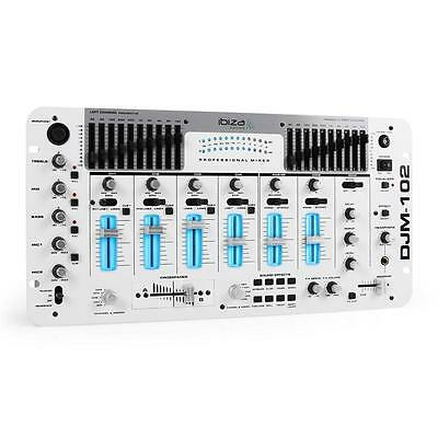 Top Ibiza Djm-102Wh Battle Rack Mischpult Mit 10 Band Equalizer & Kill Funktion
