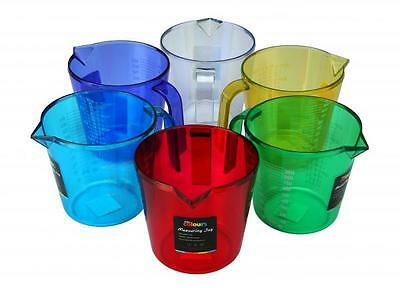 Zodiac 1 Litre Colourful Plastic Cook's Measuring Jug Jugs for Cooking Baking