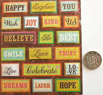 SCRAPBOOKING NO 034 - 19 Piece DIMENSIONAL SAYING STICKERS - SALE TO CLEAR