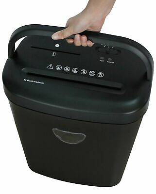Proaction 12 Sheet 25 Litre Card and CD Cross Cut Shredder - Black