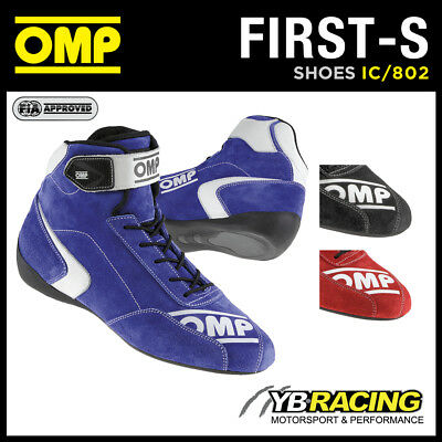 New! Ic/802 Omp First-S Racing Shoes Boots New Model Just Released By Omp Racing