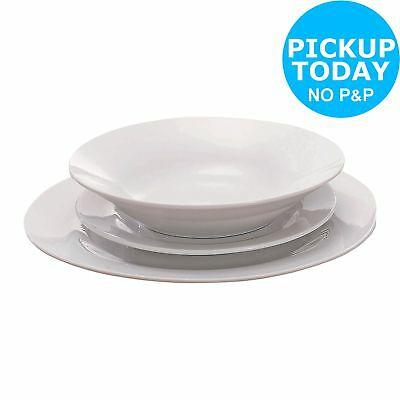 Simple Value 12 Piece Porcelain Dinner Set - White -From the Argos Shop on ebay