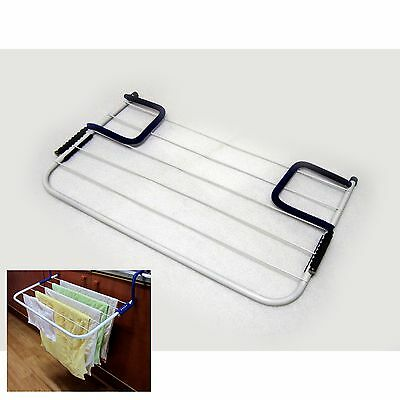 New Adjustable Clothes Dry Hanger Laundry Drying Hooks Holder Kitchen Home Blue