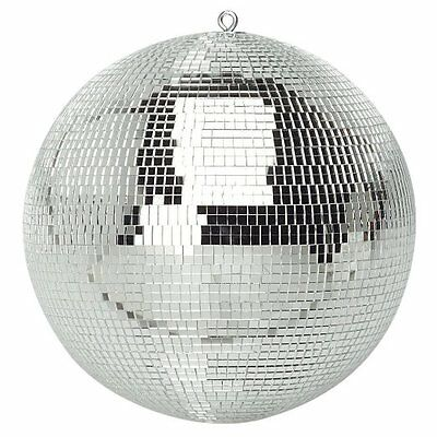 300mm Shiny Silver Party Disco Mirror Ball Club DJ New - Ideal for Bedroom