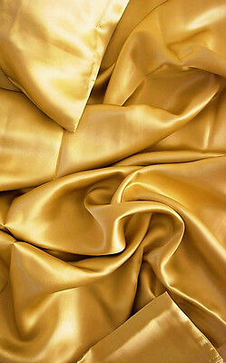 4 Pc 100 Mulberry Silk Charmeuse Sheet Set Full Size Gold By Feeling Pampered
